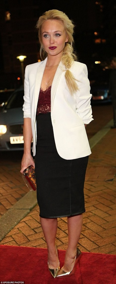 Stephanie Waring flashes side boob as she hits fourth party this week | contemporary fashion design | Scoop.it