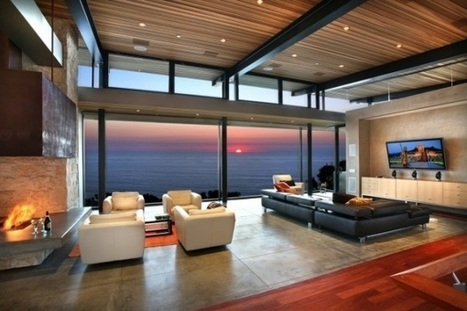 Living room interior with beautiful panoramic views | Designinggal | interior design inspirations | Scoop.it