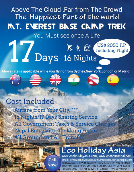 Hot Offer - Eco Holiday Asia | Adventure Sports Nepal | Scoop.it