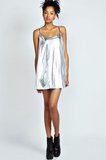 Fiona Metallic Strappy Swing Dress | peaceful lady | Scoop.it