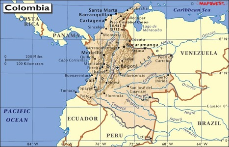 Map of Colombia | Colombia, Callie Long | Scoop.it