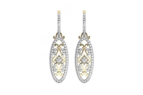Captivating Trendy Diamond danglers on Hoops | Diamond Jewellery India | Scoop.it