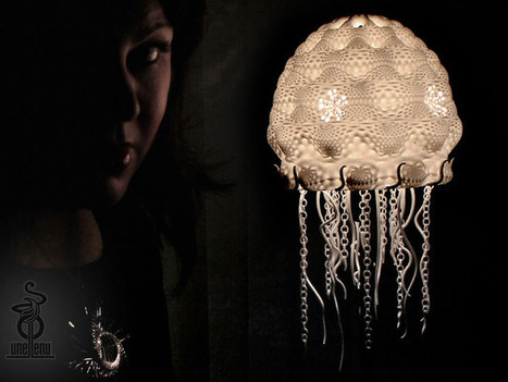 Jellyfish Lampshade by Unellenu | tecnext | Scoop.it