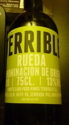 TERRIBLE 1 : el primer vino de VINOS TERRIBLES | @zone41 Wine World | Scoop.it