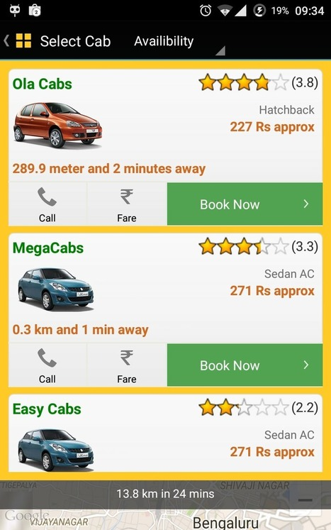 CabsGuru - One App To Book Any Taxi Cab In India | Android And Freak | Android And Freak | Scoop.it
