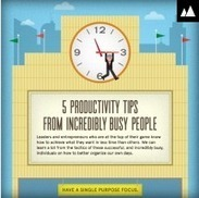 5 Productivity Tips from really Busy Business People | Small Business Productivity Tools | Scoop.it