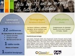 Blog de t@d: Introduction au tutorat à distance - conférence à l'ESENESR | Formations Pedagogie | Scoop.it