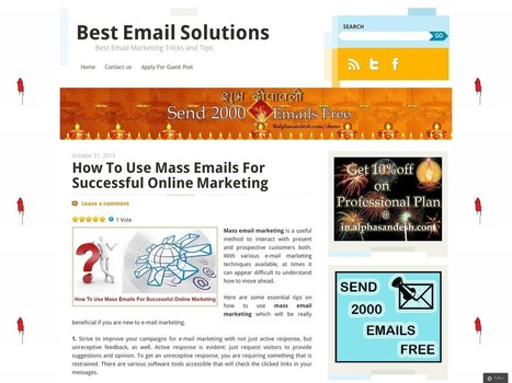 How To Use Mass Emails For Successful Online Marketing   Email Marketing tips with dedicated bulk email server   Scoop.it