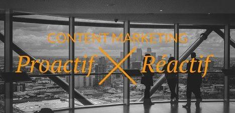 Content Marketing : plan éditorial proactif ou réactif ? | Be Marketing 3.0 | Scoop.it