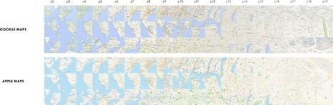 Cartography Comparison: Google Maps & Apple Maps | Digital Arts Resource Guide | Scoop.it