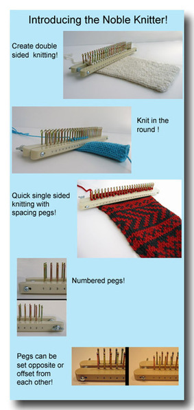Frame Knitting for your Noble Knitters, knitting boards, knitting board patterns, knitting board books, and how to instructions. - FAQ   bricolo   Scoop.it