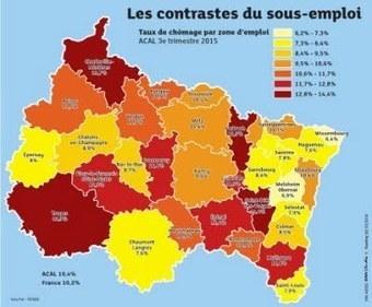 Chômage massif, premier défi du Grand Est | Alsace Actu | Scoop.it