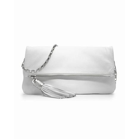 White Michael Kors Tonne Fold Over Clutch | fashion list | Scoop.it
