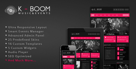 K-BOOM v1.1.2 – ThemeForest Events & Music Responsive WordPress Theme - Yocto Templates | #Get WordPress Themes and Plugins | Scoop.it