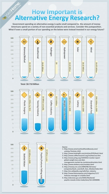 Alternative Energy Research vs Weight Loss Products {Infographic} | Visualization Gallery | Scoop.it