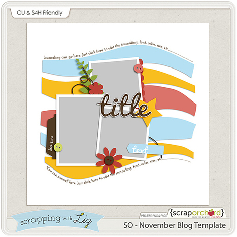 Digital Scrapbook Blog - Template Tuesday: November 19th | Scrap Orchard | Free Digital Scraps | Scoop.it