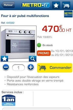 METRO.fr mobile sur iPhone | E-commerce, M-commerce : digital revolution | Scoop.it