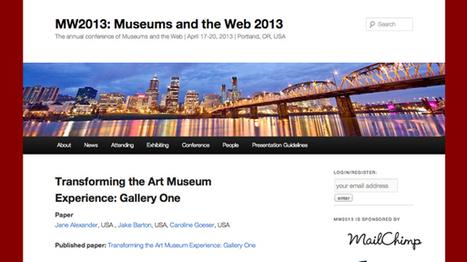 Vincent Roirand (Mazedia) : «Museums and the Web 2013: le digital enfin traité de manière globale» | Clic France | Scoop.it