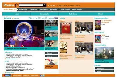 Rouen : le site internet de la Ville s'offre un relooking | Actualités de Rouen et de sa région | Scoop.it