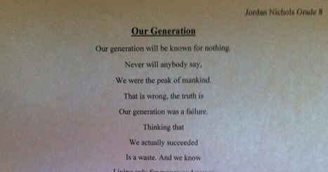 14 Year Old Boy Just Wrote The Most Significant Poem This Decade | English | Scoop.it