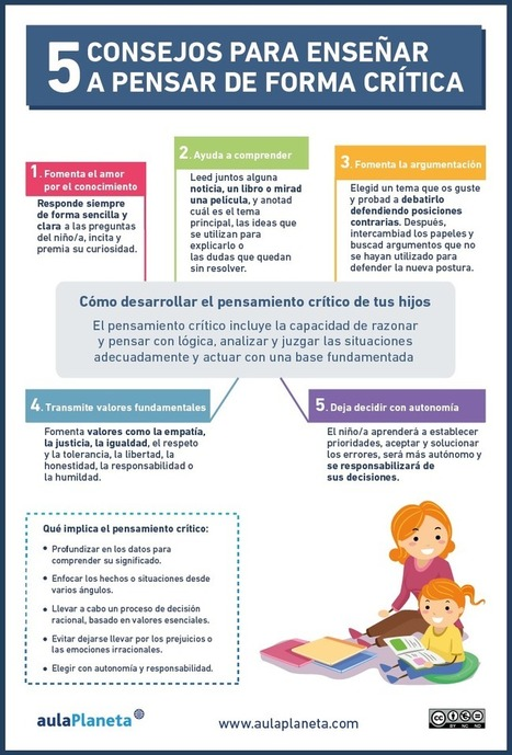Cómo desarrollar el pensamiento crítico de tus hijos | aulaPlaneta | Mundos Virtuales, Educacion Conectada y Aprendizaje de Lenguas | Scoop.it