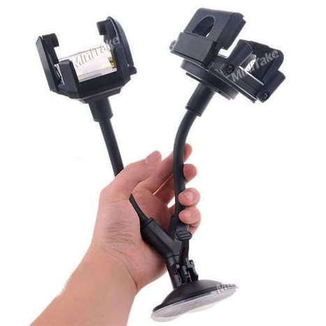 Buy Universal Car Dual 2 Mobile Stand Holder Mount Sucker for Mobile Iphone GPS MP4 at Shopper52   Mobile Phone Accessories   Scoop.it