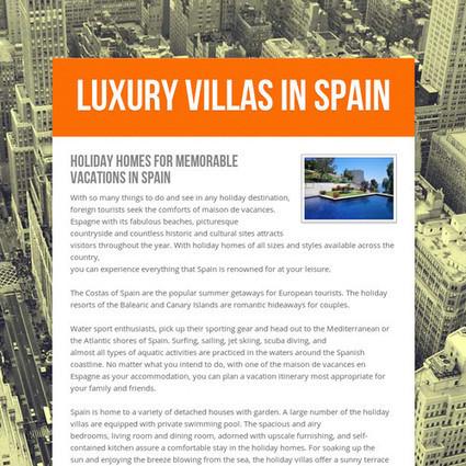 luxury villas in spain | villas in spain for rent | Scoop.it