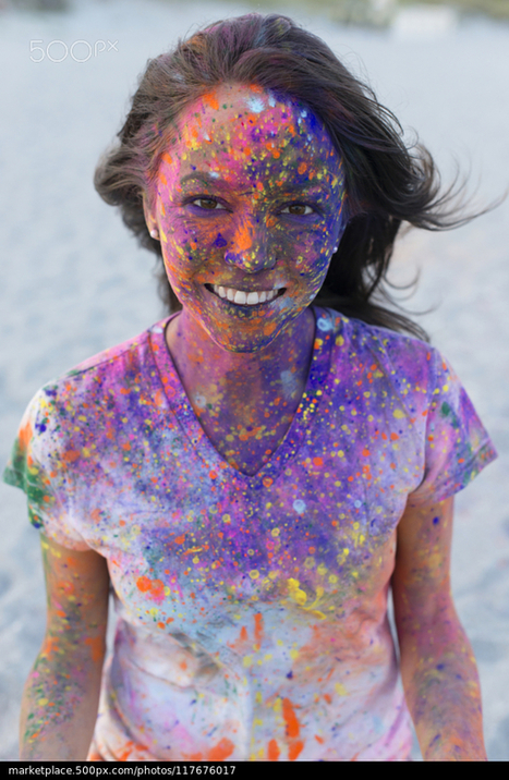 Caucasian woman splattered with paint powder by | 500px Marketplace | My Photo | Scoop.it
