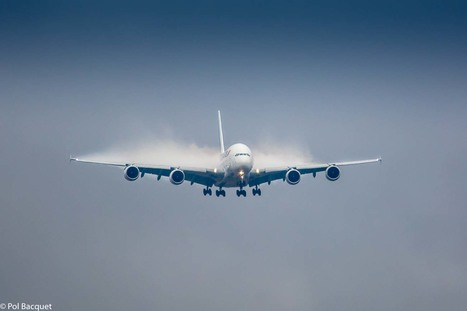 An Air France Airbus 380 on final approach in Paris | Aviation & Airliners | Scoop.it