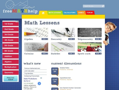 Learning Never Stops: 29 great math websites for students of all ages | Cool School Ideas | Scoop.it