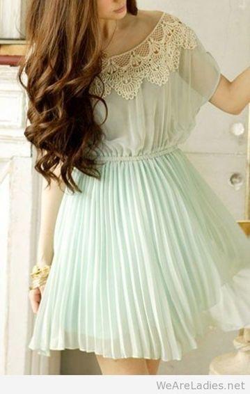 Pretty light blue dress   Pintast   Scoop.it
