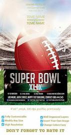 NFL SUPER BOWL 2014 PHOTOSHOP PSD FREE PARTY FlYER TEMPLATE DOWNLOAD | artgrap.com | Artwork, Graphic & Illustration | Scoop.it