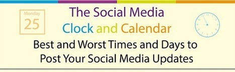 Best and Worst Times and Days to Post Your Social Media Updates [Infographic] - | Life in London, Social Media, English Literature and Random Musings | Scoop.it