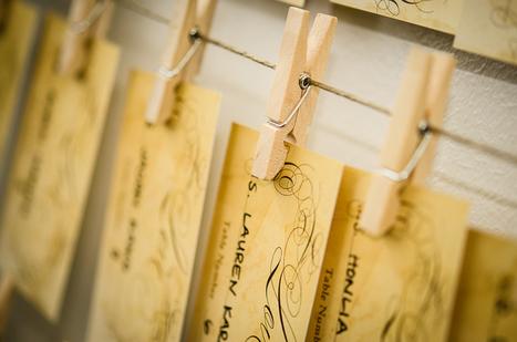 DIY Wedding Series: Rustic Seating Cards Display | Zazzle Blog | DIY WEDDINGS | Scoop.it