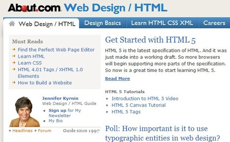Web Design - HTML XML - Web Development - Web Site Design | Free Tutorials in EN, FR, DE | Scoop.it