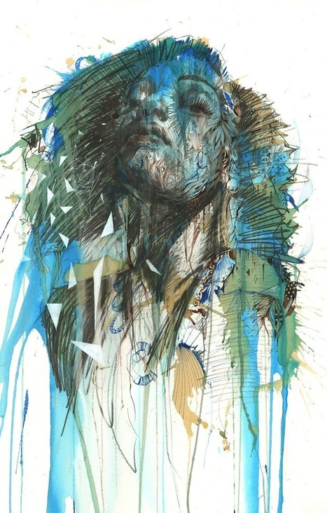 Portraits Made from Whiskey, Vodka, Brandy, Tea and Ink | 1001 Creative ideas ! | Scoop.it