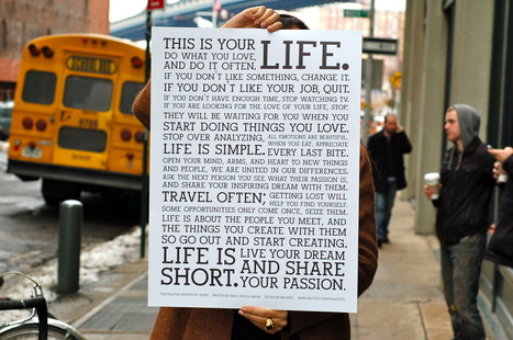HOLSTEE - About: The Holstee Manifesto - Live Your Dream | Story and Narrative | Scoop.it