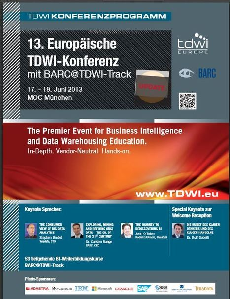 BUCHVORSTELLUNG AUF DER TDWI EUROPE 2013 IN MÜNCHEN 18.06.2013 (14:45 - 18:00) | VISUAL BUSINESS ANALYTICS 06-2013 | Scoop.it