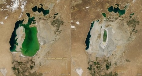 "Once the 4th-Largest Lake in the World, the Aral Sea Is Now Gone (""an example of drier times ahead"") 