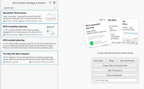 How to Create a Table of Contents in #Evernote | Personal [e-]Learning Environments | Scoop.it
