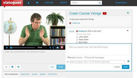 Free Technology for Teachers: Try Vialogues to Build Discussions Around Videos | Moodle and Web 2.0 | Scoop.it