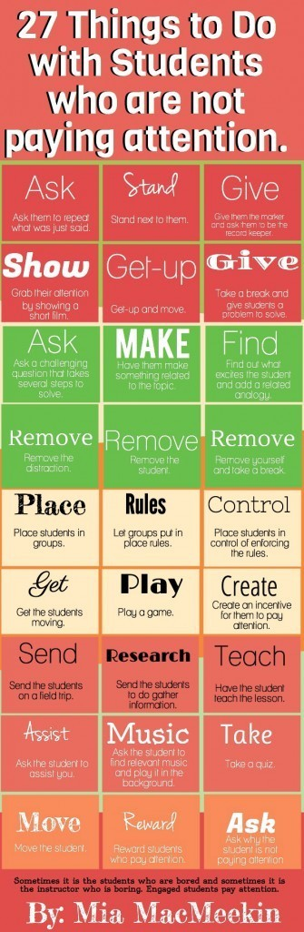27 Ways To Respond When Students Don't Pay Attention | llegir i escriure | Scoop.it