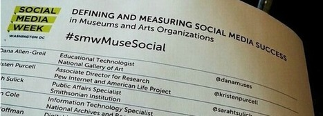 #smwMuseSocial – Defining and Measuring Social Media Success in Museums and Arts Orgs | Museums and Digital Media | Scoop.it