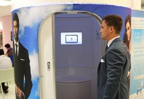 Des costumes vraiment sur-mesure grâce aux cabines 3D | La Minute Retail | Web Innovation | Scoop.it