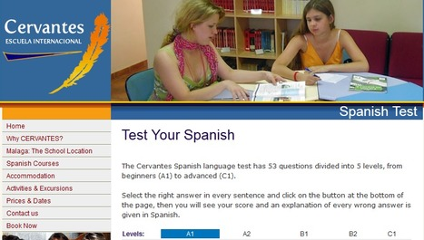 Spanish level Test free Test your Spanish level online Spanish Profiency Test | Materials for Spanish class | Scoop.it