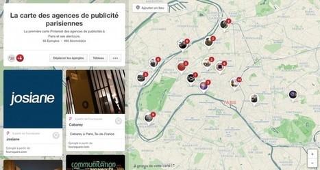 La première carte Pinterest des agences de publicité parisiennes | Actualité du marketing digital | Scoop.it