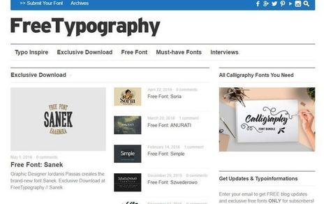 FreeTypography: gran colección de tipografías gratuitas   Eines i Recursos eduTIC   Scoop.it