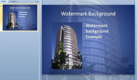 Agregar una marca de agua como fondo de diapositivas PowerPoint   plantillas-powerpoint.com   Maria Piedad   Scoop.it