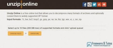 Unzip Online : un service en ligne pratique pour décompresser vos archives   Actualités de l'open source   Scoop.it