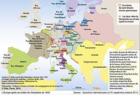 L'Europe après les traités de Westphalie de 1648 - Cartes historiques - Cartes - La Documentation française | Cartes historiques et cartes d'Histoire | Scoop.it